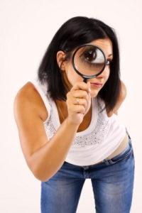 woman girl microscope