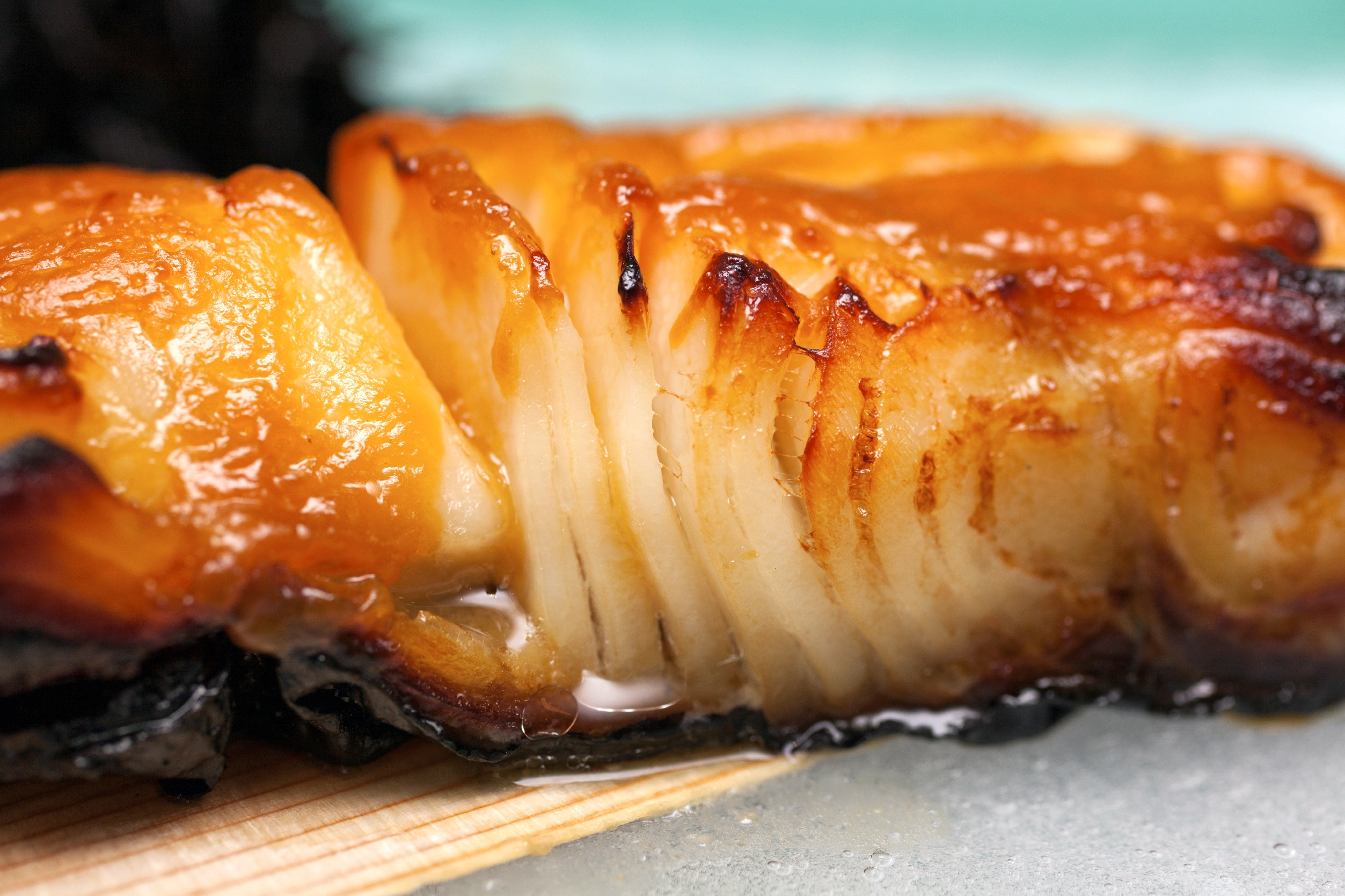Baked Cod with Miso Ginger Marinade - Andrea Beaman