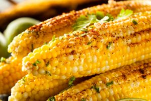 Spicy Grilled Corn with Cilantro
