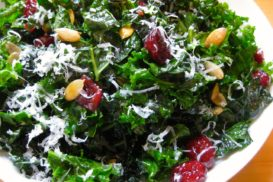 Massaged Kale Salad with Pepitas & Cranberries
