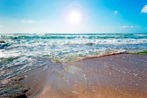 Sun sunshine waves beach nature