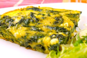 spinach and ricotta frittata