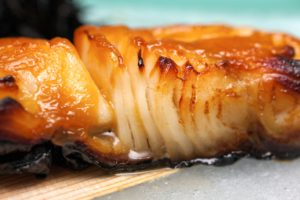 Baked cod with miso ginger marinade andrea beaman for How to bake cod fish in the oven
