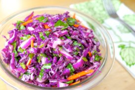 Dandelion and Cabbage Salad with Horseradish Dressing