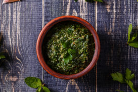 Parsley, Garlic and Walnut Dressing