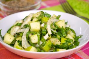 fennel apple dandelion salad
