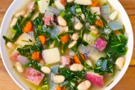 Nourishing Bone Stock, Beans and Collard Greens Stew