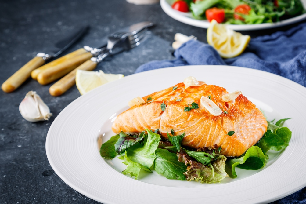 Marinated baked salmon andrea beaman marinated baked salmon ccuart Image collections