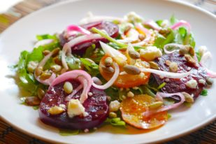 Colorful Beet Salad with Pickled Onions