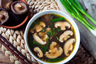 Healing Broth with Shiitake Mushrooms, Onion and Parsley