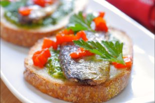 Pan Seared Sardines with Parsley Pistou