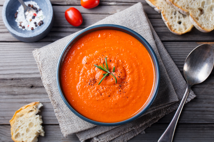 Roasted Tomato Soup with Rosemary